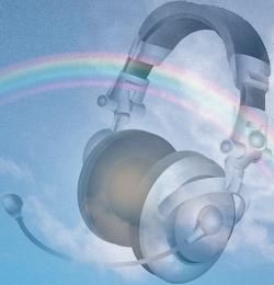 rainbow-headphone