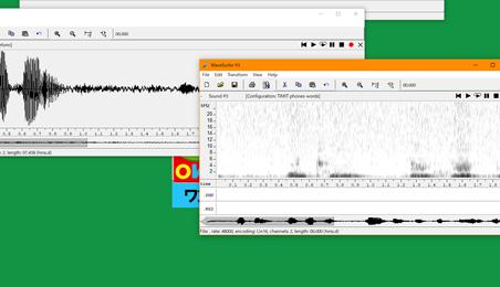 音声解析アプリのウィンドウ