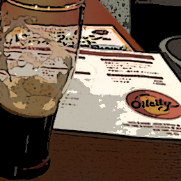 オイルシティメニューと黒ビール